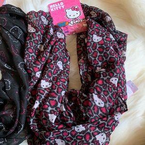 Hello Kitty Accessories - 2 hello kitty infinity scarfs